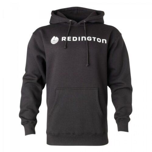 Redington Logo Hoodie (Stealth Black, white letters)