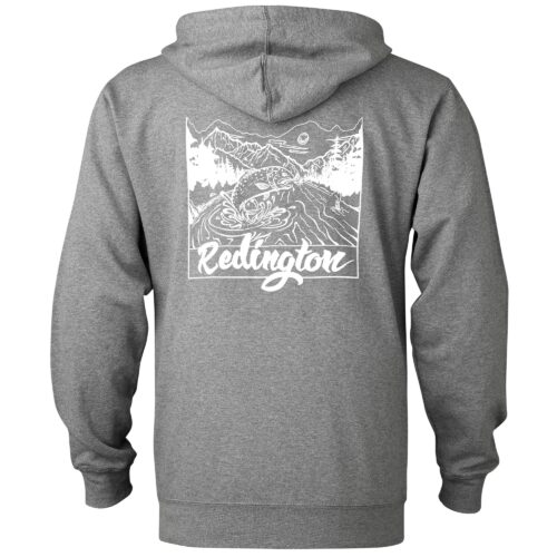 Redington Old School Zip Hoodie (Gunmetal Heather)