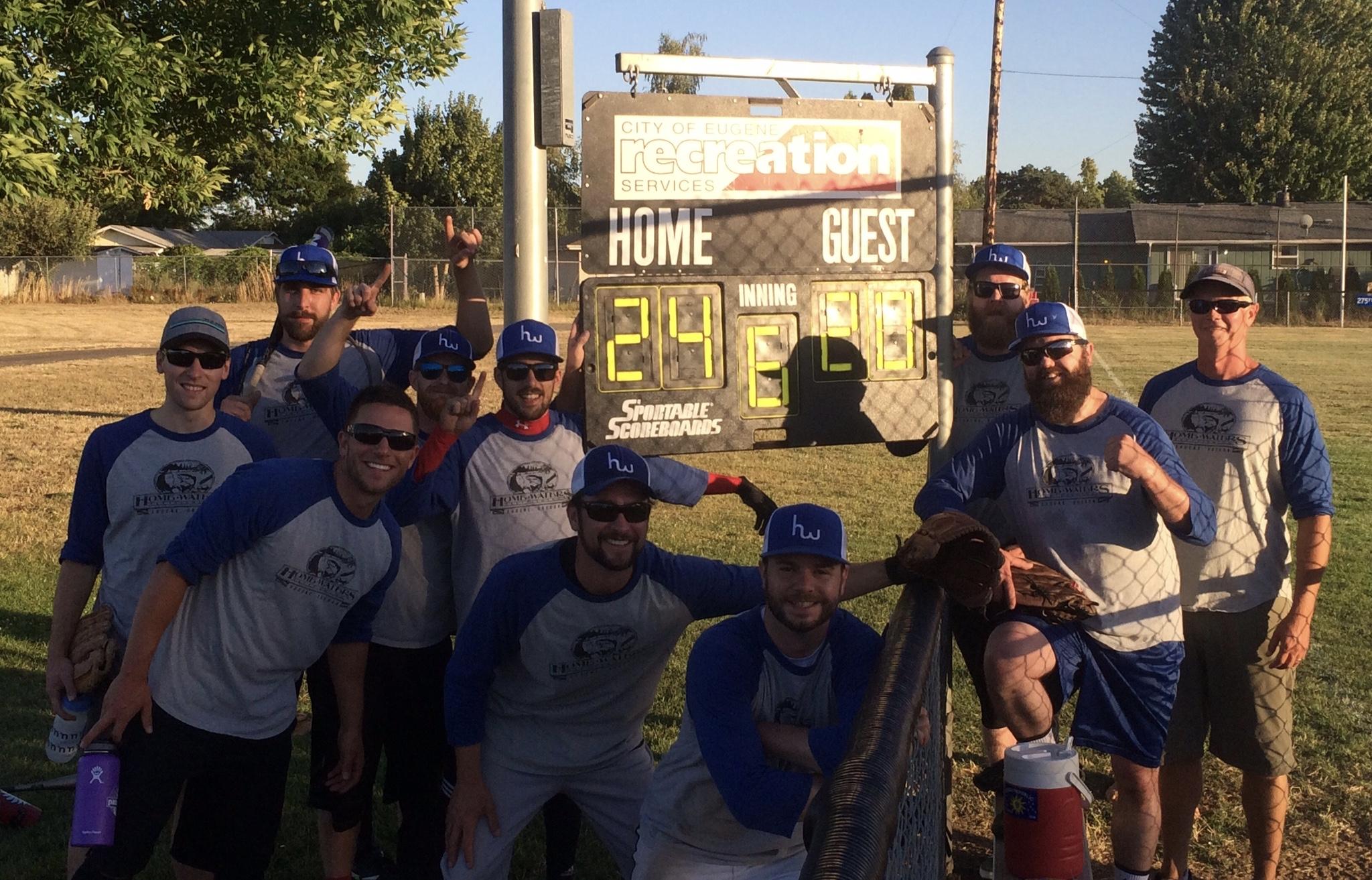 Home Waters Summer League Softball Team 2016