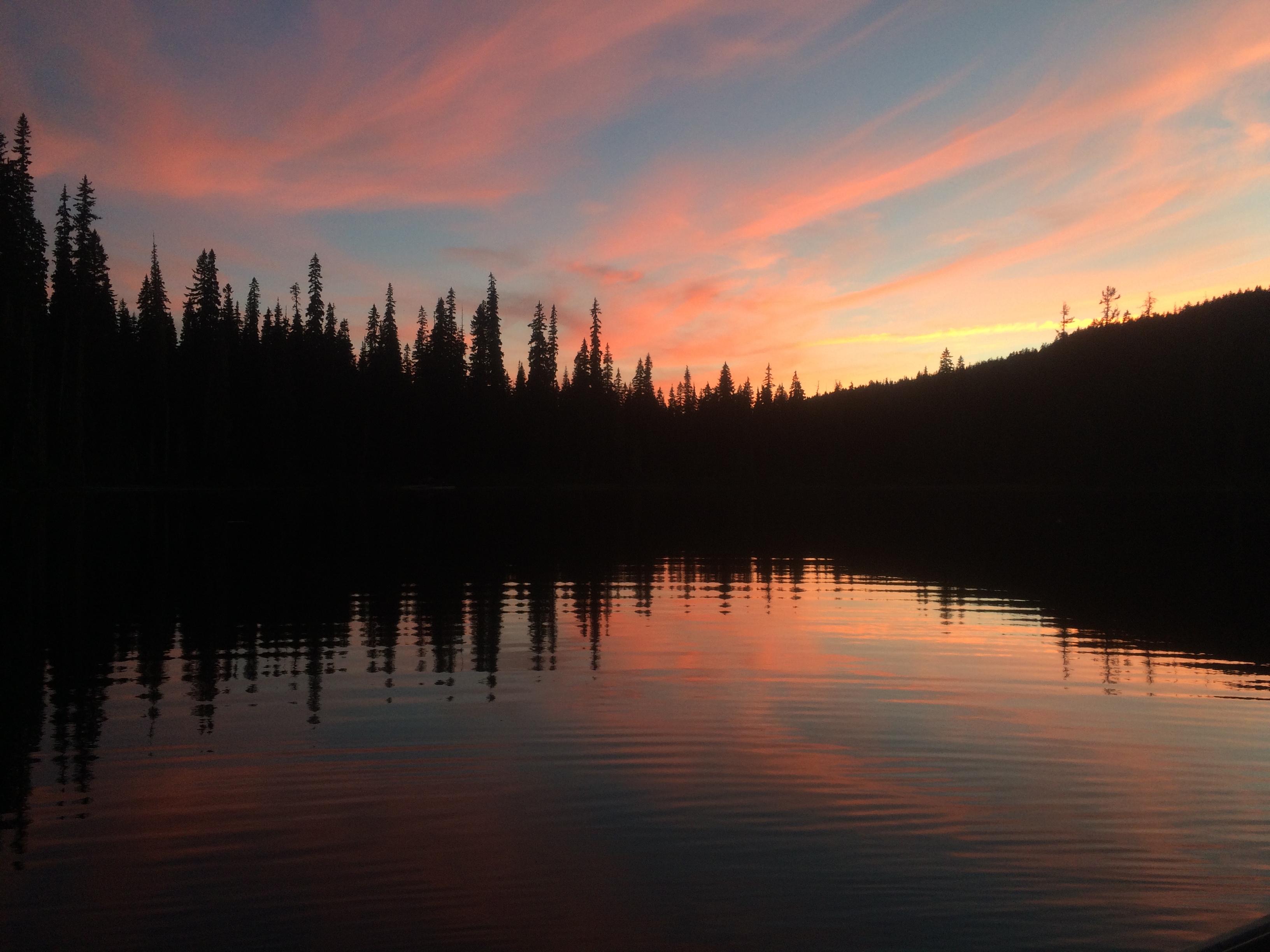 Gold Lake sunset