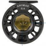 Ross Animas Fly Reel Stealth Black w/Moss Hardware